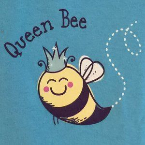 🐶Buy 3 for $15 Queen Bee Toddler Tee, Aqua, NWT